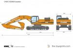 CASE CX250B Excavator