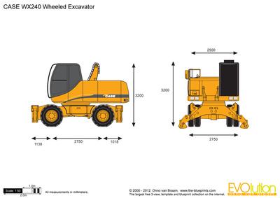CASE WX240 Wheeled Excavator