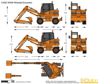 CASE WX95 Wheeled Excavator