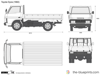 Toyota Dyna Vector Drawing