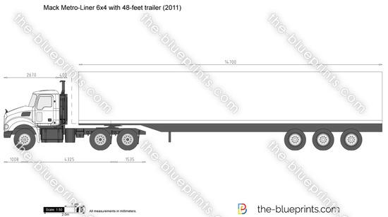 Mack Metro-Liner 6x4 with 48-feet trailer