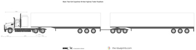 Mack Titan 6x4 Superliner 64-feet Highrise Trailer Roadtrain