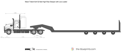 Mack Trident 6x4 52-feet High Rise Sleeper with Low Loader
