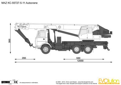 MAZ KC-55727-5-11 Autocrane