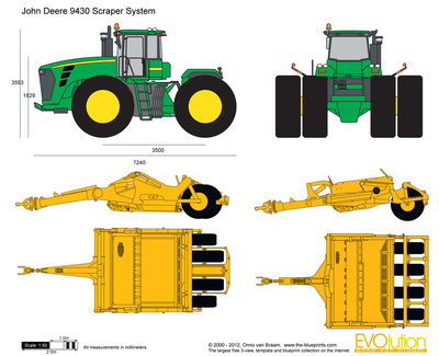 John Deere 9430 Scraper System