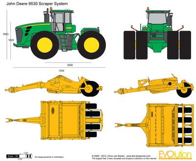 John Deere 9530 Scraper System