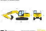 New Holland E175C Monoboom Excavator