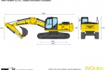 New Holland E215C Tripple Articulation Excavator