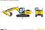 New Holland E245C Monoboom Excavator