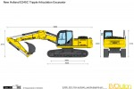 New Holland E245C Tripple Articulation Excavator