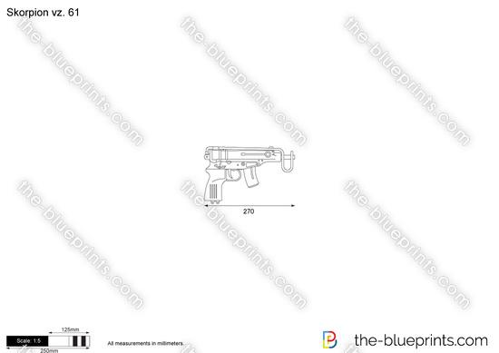 Vz 61 skorpion blueprints skorpion vz 61