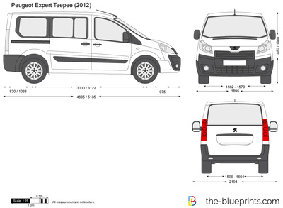 Peugeot Expert Teepee Vector Drawing