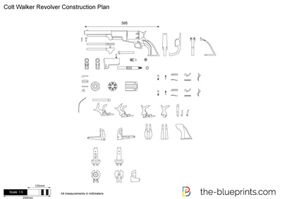 Colt Revolver Drawing Vector Drawing Preview Colt