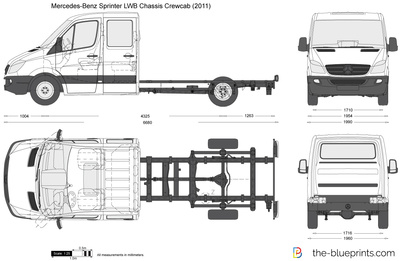 Mercedes-Benz Sprinter LWB Chassis Crewcab