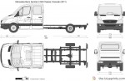 Mercedes-Benz Sprinter LWB Chassis Crewcab