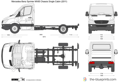 Mercedes-Benz Sprinter MWB Chassis Single Cabin