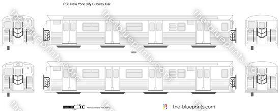 R38 New York City Subway Car