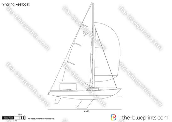 Yngling keelboat