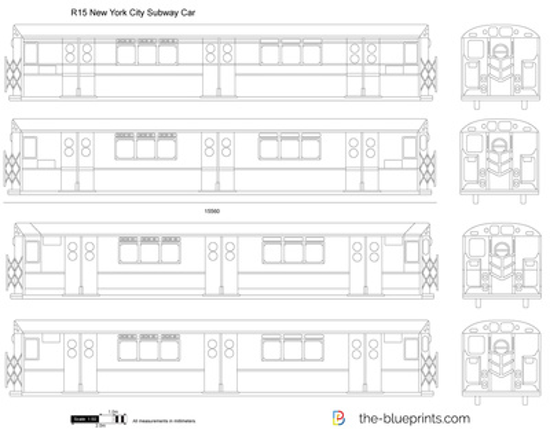 R15 New York City Subway Car