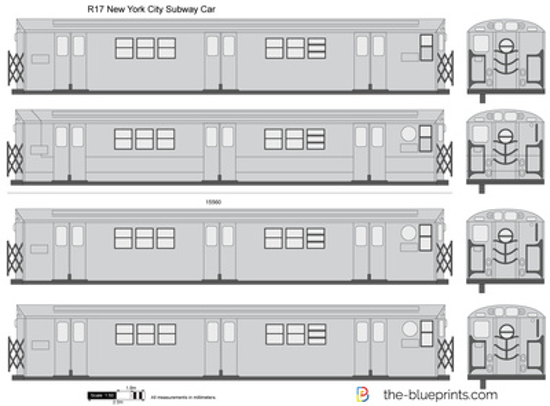 R17 New York City Subway Car