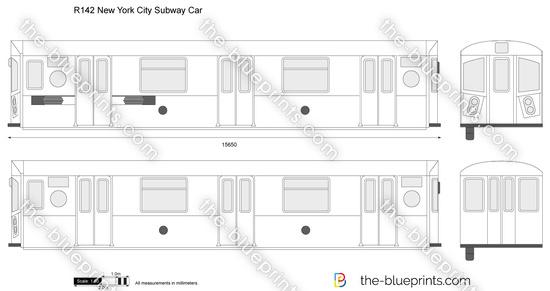 R142 New York City Subway Car