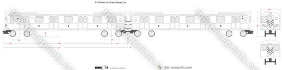 R143 New York City Subway Car