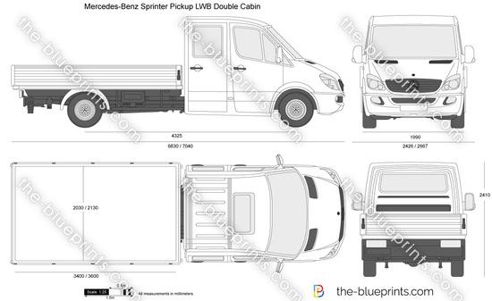 Mercedes-Benz Sprinter Pickup LWB Double Cabin