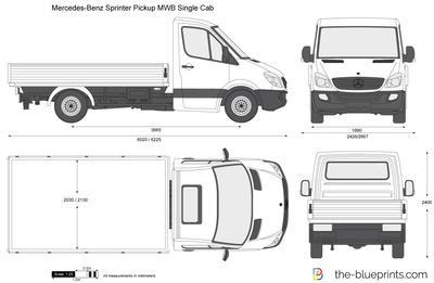 Mercedes-Benz Sprinter Pickup MWB Single Cab