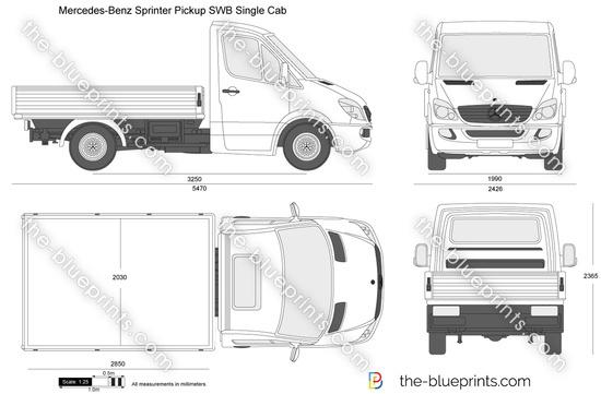 Mercedes-Benz Sprinter Pickup SWB Single Cab
