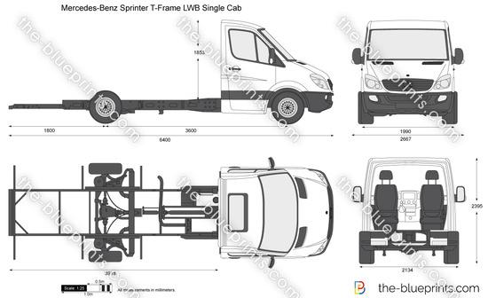 Mercedes-Benz Sprinter T-Frame LWB Single Cab