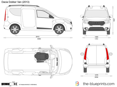 dacia dokker van vector drawing. Black Bedroom Furniture Sets. Home Design Ideas
