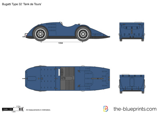 Bugatti Type 32 `Tank de Tours`