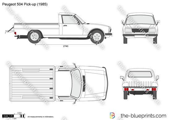 Blueprints Cars Peugeot Peugeot 504 Pick Up