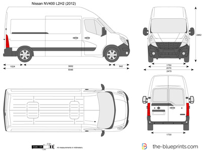 nissan nv400 l2h2 vector drawing. Black Bedroom Furniture Sets. Home Design Ideas