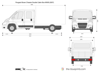 Peugeot Boxer Chassis Double Cabin Box MWB