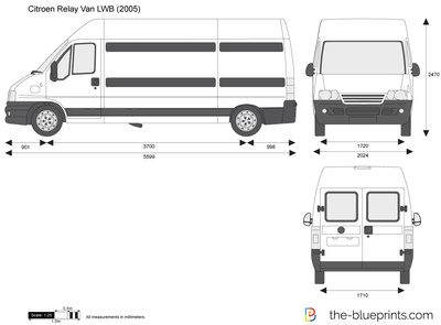 Citroen Relay Van Lwb Vector Drawing