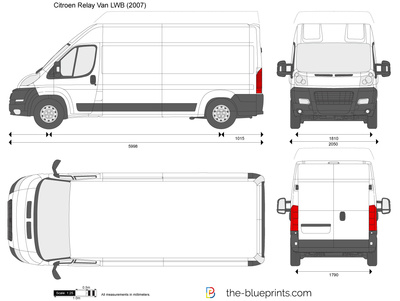 The Blueprints Com Vector Drawing Citroen Relay Van Lwb