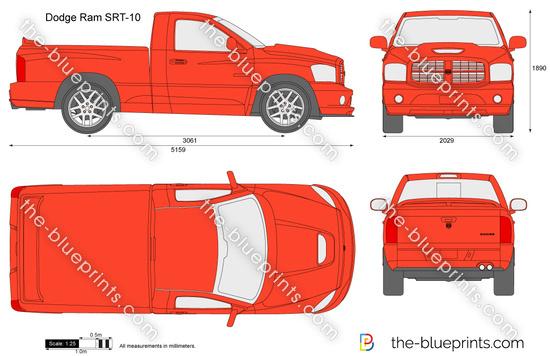 Dodge Ram Srt 10 Vector Drawing