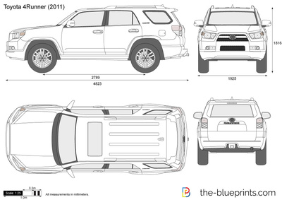Toyota 4runner Vector Drawing