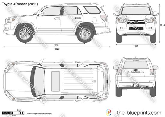 The Blueprints Com Vector Drawing Toyota 4runner