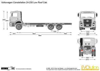 Volkswagen Constellation 24-250 Low Roof Cab
