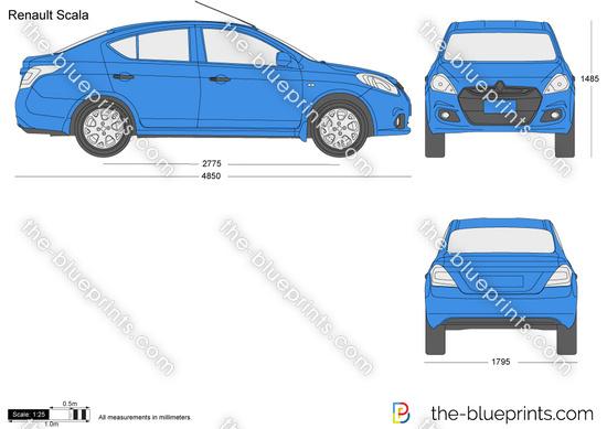 Renault Scala Vector Drawing
