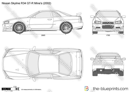 Nissan Skyline R34 GT-R Mine's