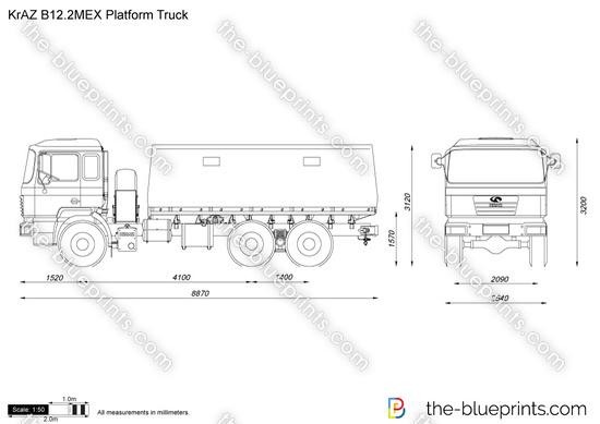 KrAZ B12.2MEX Platform Truck