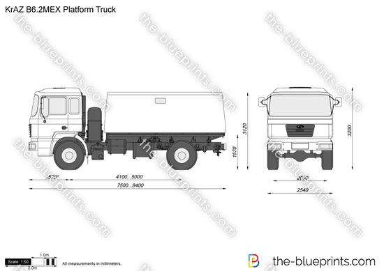 KrAZ B6.2MEX Platform Truck
