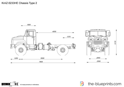 KrAZ-5233HE Chassis Type 2