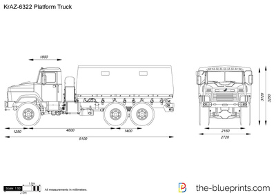 KrAZ-6322 Platform Truck