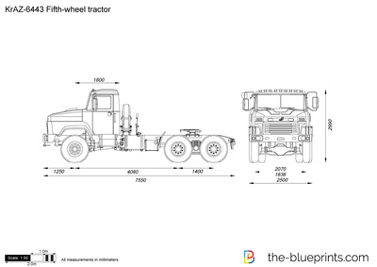 KrAZ-6443 Fifth-wheel tractor