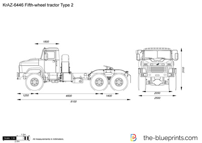 KrAZ-6446 Fifth-wheel tractor Type 2