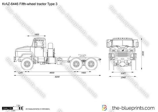 KrAZ-6446 Fifth-wheel tractor Type 3